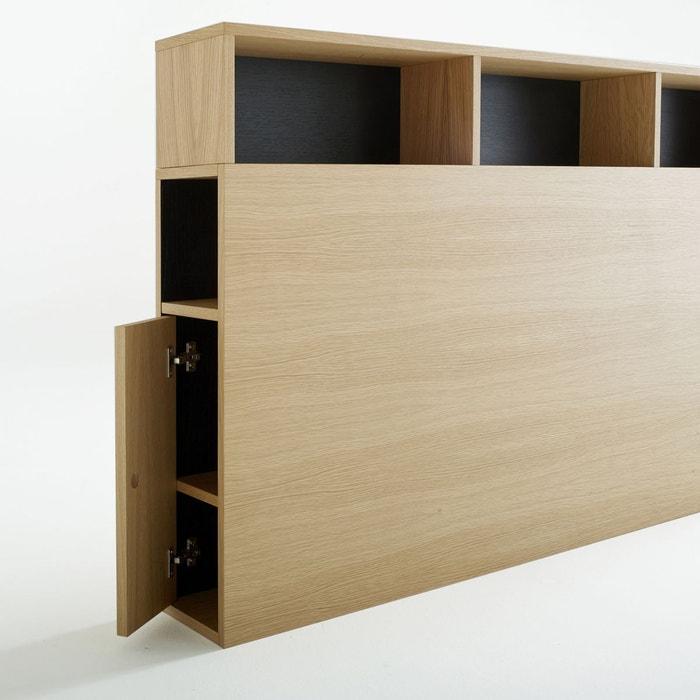 t te de lit avec rangements biface bois clair ch ne la redoute interieurs la redoute. Black Bedroom Furniture Sets. Home Design Ideas