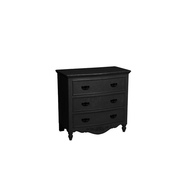 Commode galb e 3 tiroirs noir interior s la redoute - Commode la redoute ...