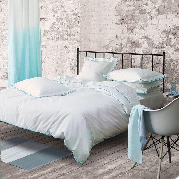 housse de couette astor en percale de coton aqua aqua designers guild la redoute. Black Bedroom Furniture Sets. Home Design Ideas