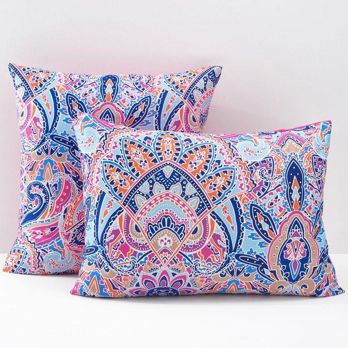 taies d oreiller satin de coton divali violet rose bleu blanc la redoute interieurs la redoute. Black Bedroom Furniture Sets. Home Design Ideas