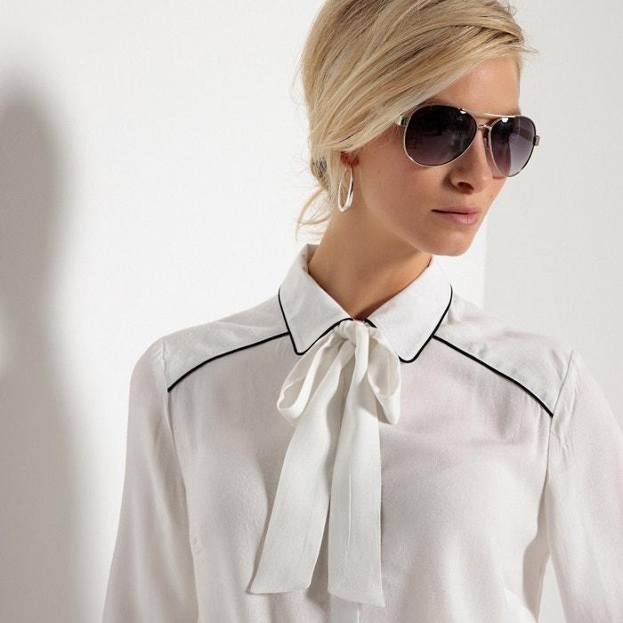 ANNE WEYBURN con Camisa chalina de recta viscosa 0Ar0xq7