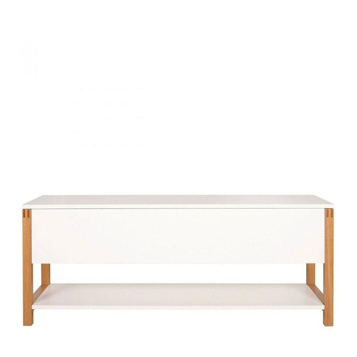 banc de rangement scandinave northgate blanc woodman la redoute. Black Bedroom Furniture Sets. Home Design Ideas