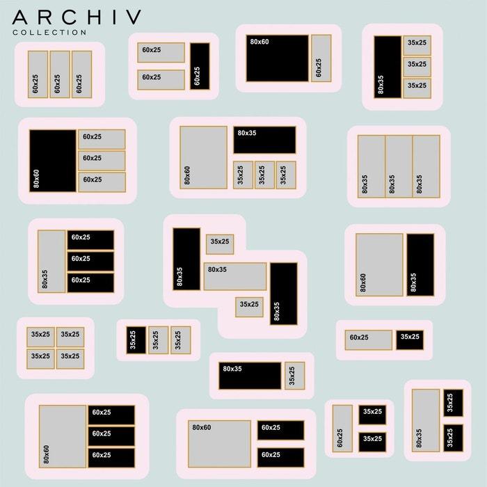 Archiv Collection Tableau Noir Etagere Deep L Long 80 X 35 Cm