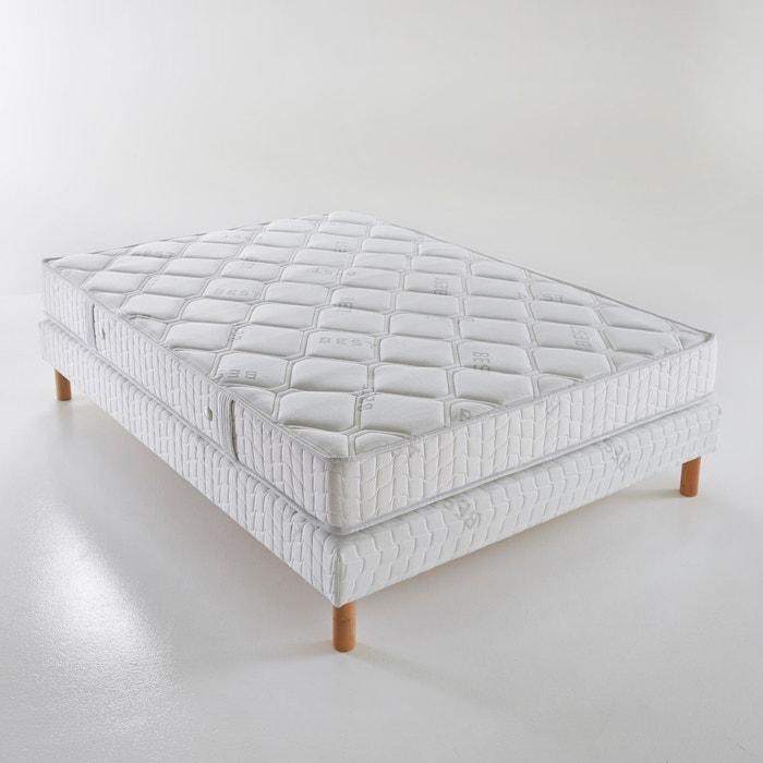 ensemble matelas mousse hr sommier blanc reverie best. Black Bedroom Furniture Sets. Home Design Ideas