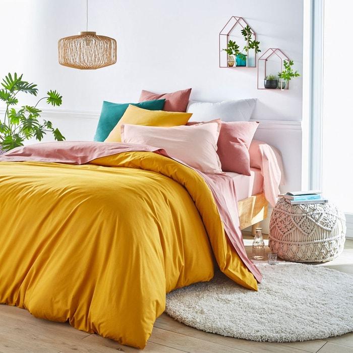housse de couette unie coton scenario la redoute. Black Bedroom Furniture Sets. Home Design Ideas