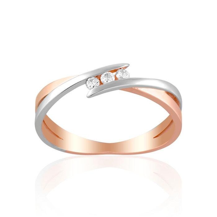 Or Bague 3751000 Diamant Blanc Et En Bicolore OPuZkXi