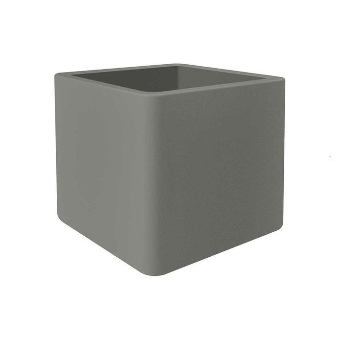pot de fleur pure soft brick 50 x cm gris ciment. Black Bedroom Furniture Sets. Home Design Ideas