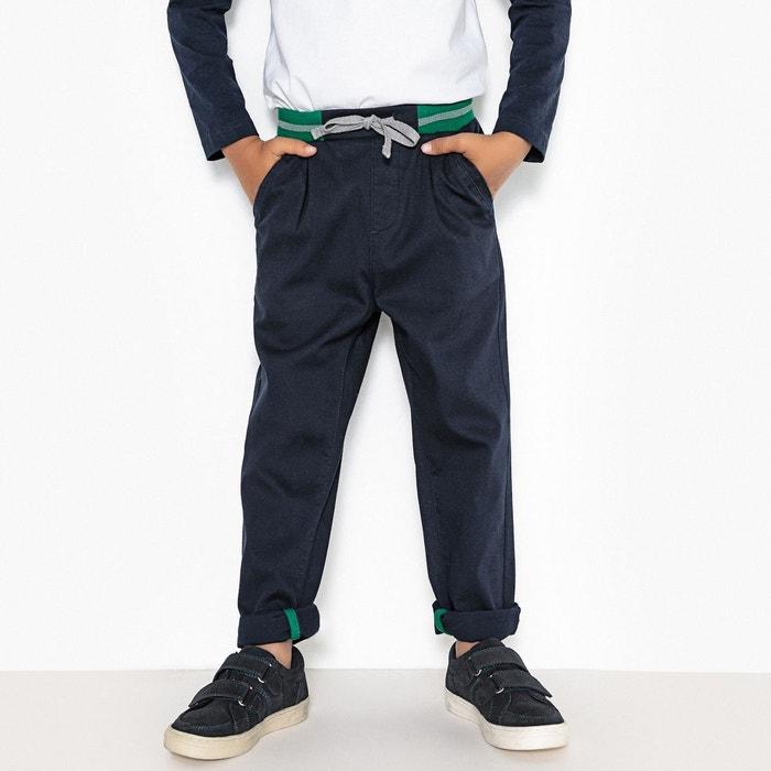 205faac68d16e Pantalon taille élastiquée 3-12 ans bleu marine La Redoute Collections | La  Redoute