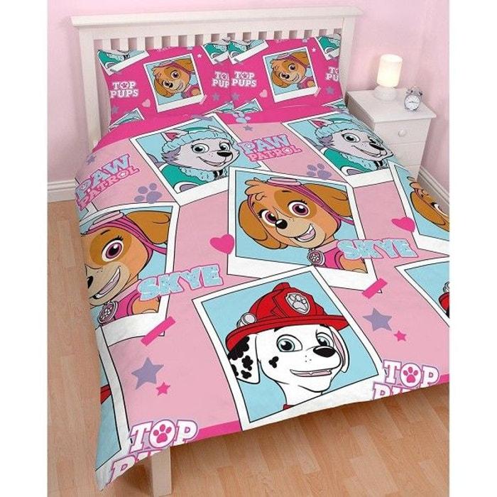 Parure de lit double pat patrouille rose multicolore pat patrouille la redoute - La redoute parure de lit ...