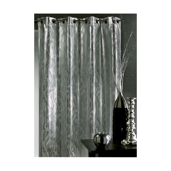 rideau aux impressions argent s home maison la redoute. Black Bedroom Furniture Sets. Home Design Ideas
