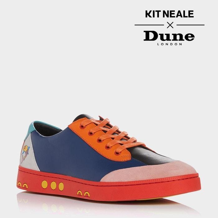 Baskets à lacets multicolores kit neale - tetra multicolore cuir Dune London