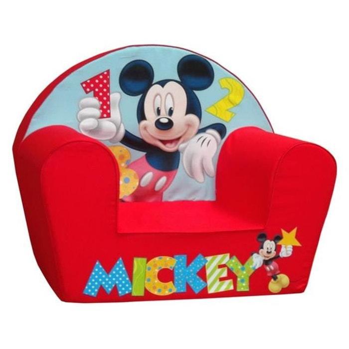 Fauteuil club mousse mickey mouse disney rouge tomy la redoute - Fauteuil club minnie de disney ...