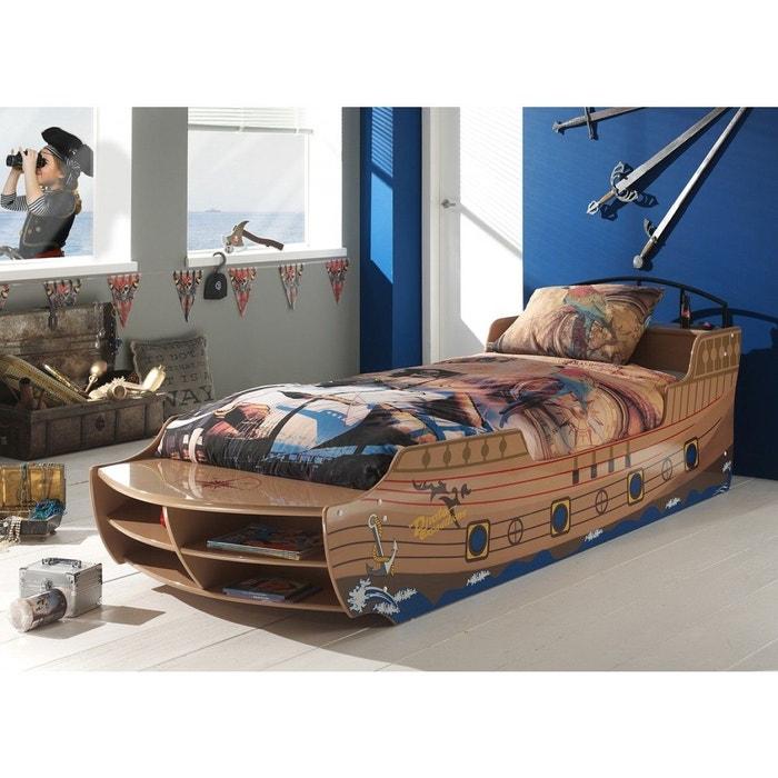 lit enfant bateau pirate beige sommier 90x200 beige terre de nuit la redoute. Black Bedroom Furniture Sets. Home Design Ideas