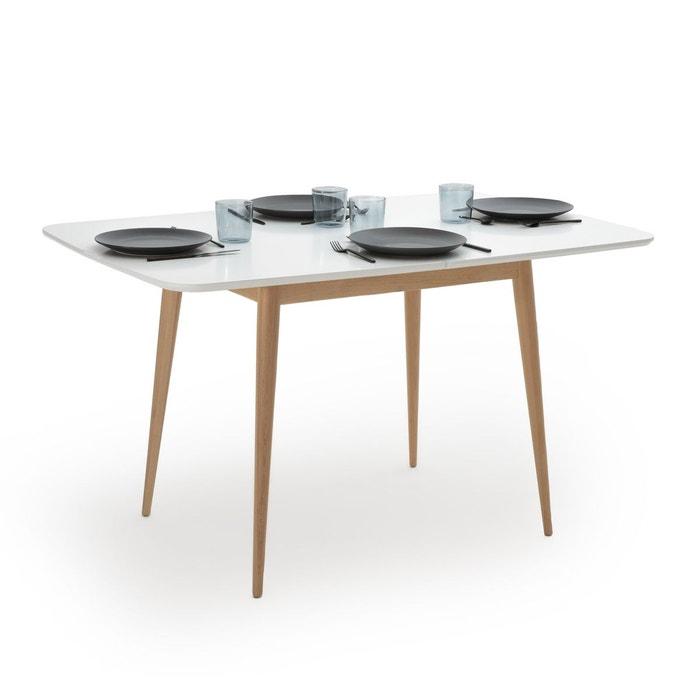 Table Cuisine 2 Personnes: Table Repas à Allonge 2 à 6 Personnes, Jimi Blanc La