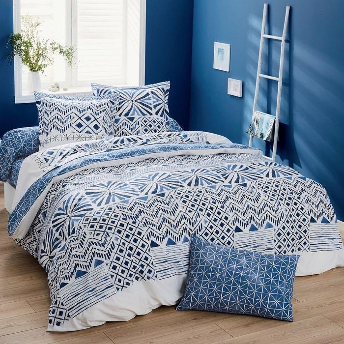 drap housse imprim ethnique en bambou priscilla bleu origin la redoute. Black Bedroom Furniture Sets. Home Design Ideas