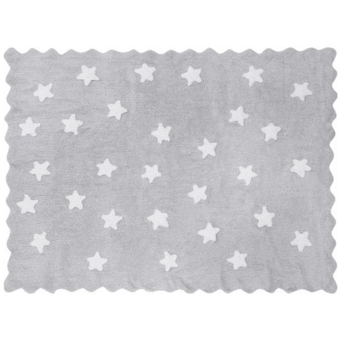 Tapis enfant coton gris toiles eden blanches gris lilipouce la redoute - Tapis enfant la redoute ...