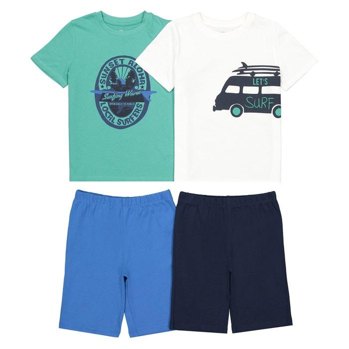 21c90429d20 Pack of 2 Cotton Surf Print Short Pyjamas, 3-12 Years