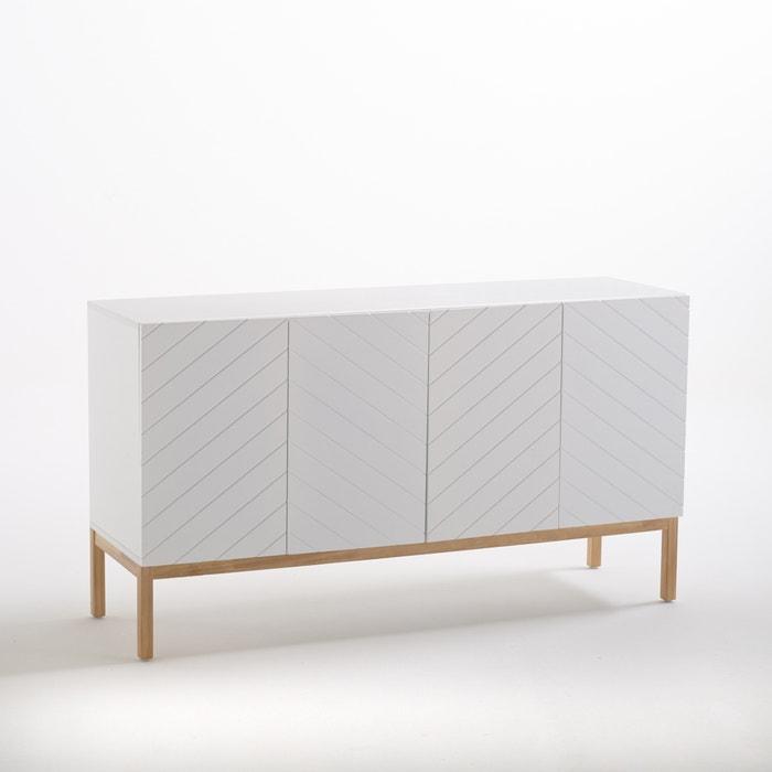 buffet enfilade plato la redoute interieurs blanc la redoute. Black Bedroom Furniture Sets. Home Design Ideas