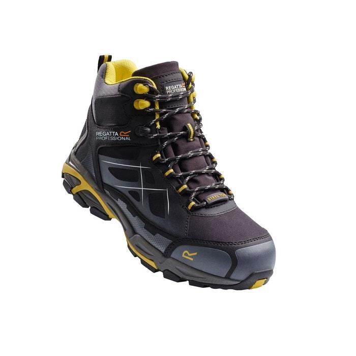 Professional  prime chaussures de sécurité s3 larges en softshell noir jaune Regatta