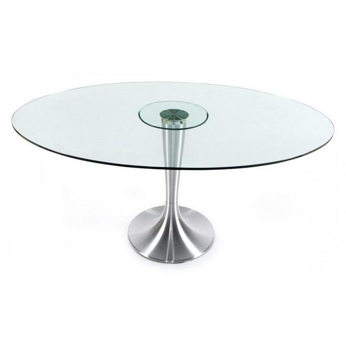 Table manger en verre chrome couleur unique kokoon design la redoute - Table a manger la redoute ...