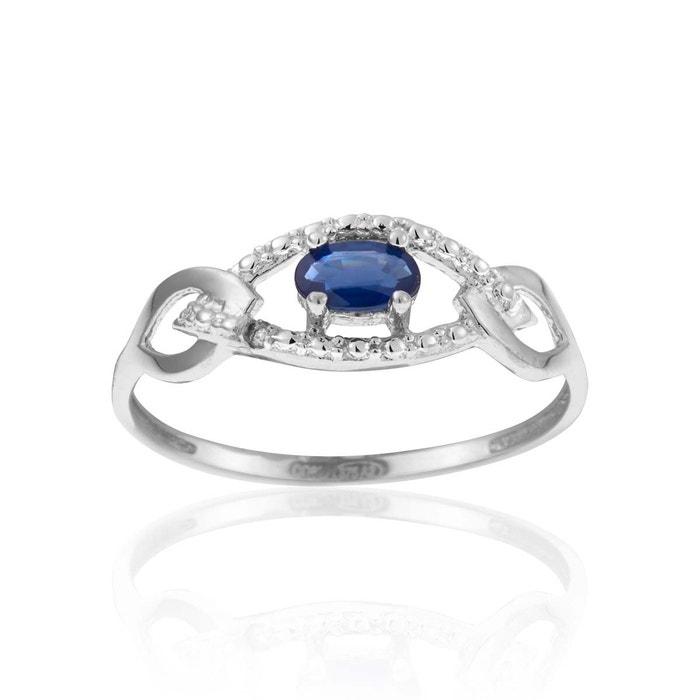 Bague or 375/1000 saphir bleu Cleor | La Redoute Jeu Pour Pas Cher La Sortie Pas Cher Authentique Meilleure Vente En Gros En Ligne hcpdavD