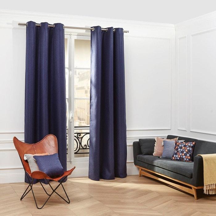madura rideau oeillets coconut bleu nuit madura la redoute. Black Bedroom Furniture Sets. Home Design Ideas