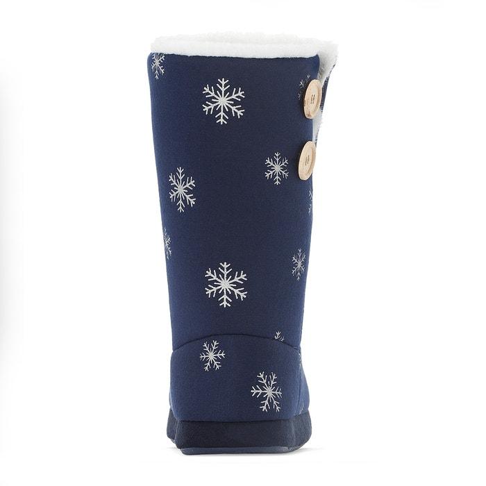 pantoufle de doublés de fourrure, des bottes, Bleu    print, l a Rouge oute collections | Apparence Attrayante  be3e68