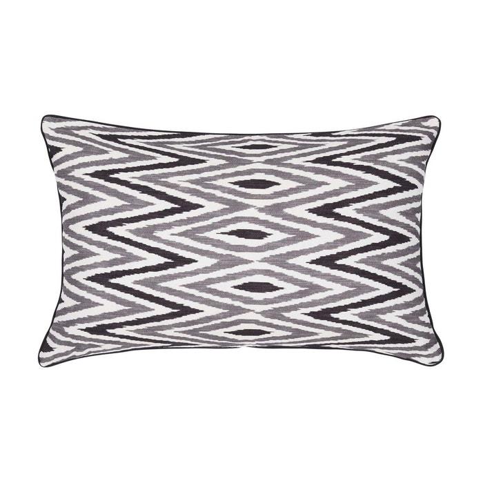 enveloppe de coussin coton zebide blanc et noir blanc et noir madura la redoute. Black Bedroom Furniture Sets. Home Design Ideas