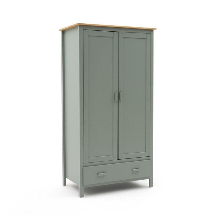 armoire penderie 2 portes alvina vert eucalyptus la redoute interieurs la redoute. Black Bedroom Furniture Sets. Home Design Ideas