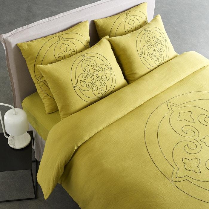 Housse de couette isambart design v barkowski citron vert am pm la redoute - Choisir taille housse de couette ...