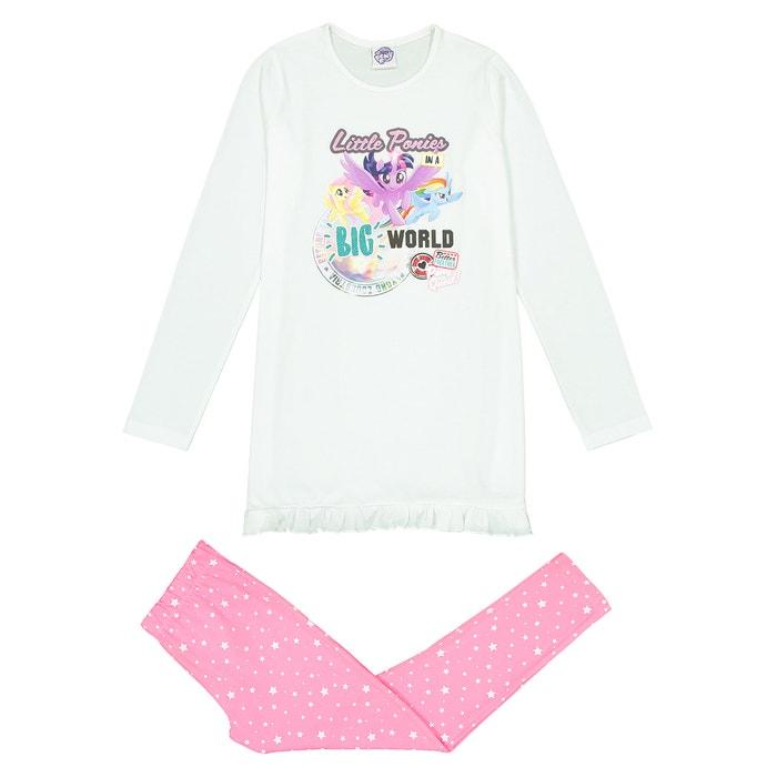 2 piece pyjamas 2 8 years white printed my little pony la redoute