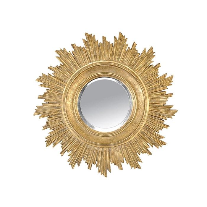 Miroir soleil dor or emde premium la redoute for Miroir emde deco