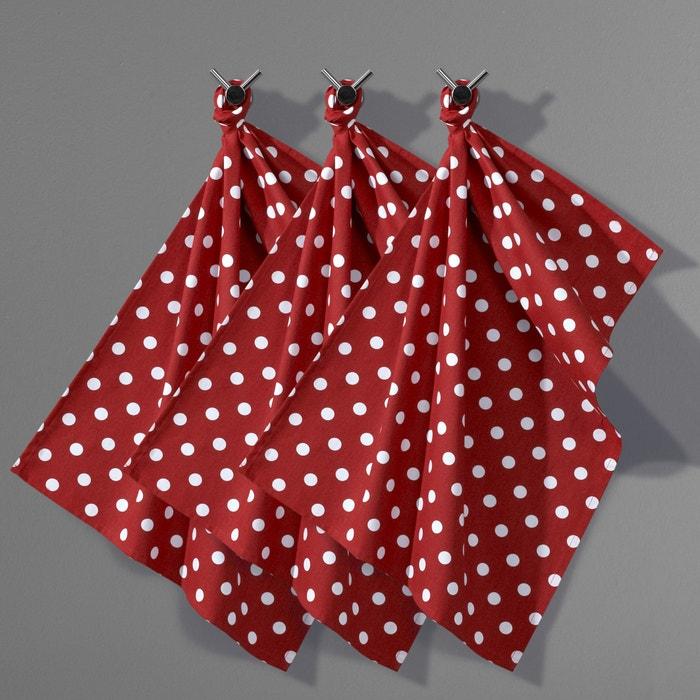 Image Torchon à pois pur coton, (lot de 3), GARDEN-PARTY La Redoute Interieurs