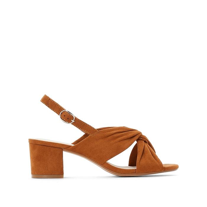 464439effb5 Wide fit faux suede sling back sandals with crossover-strap Castaluna Plus  Size