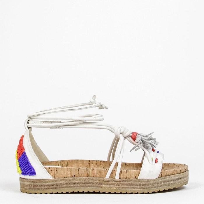 Sandales semelle épaisse jamaica blanc Coolway