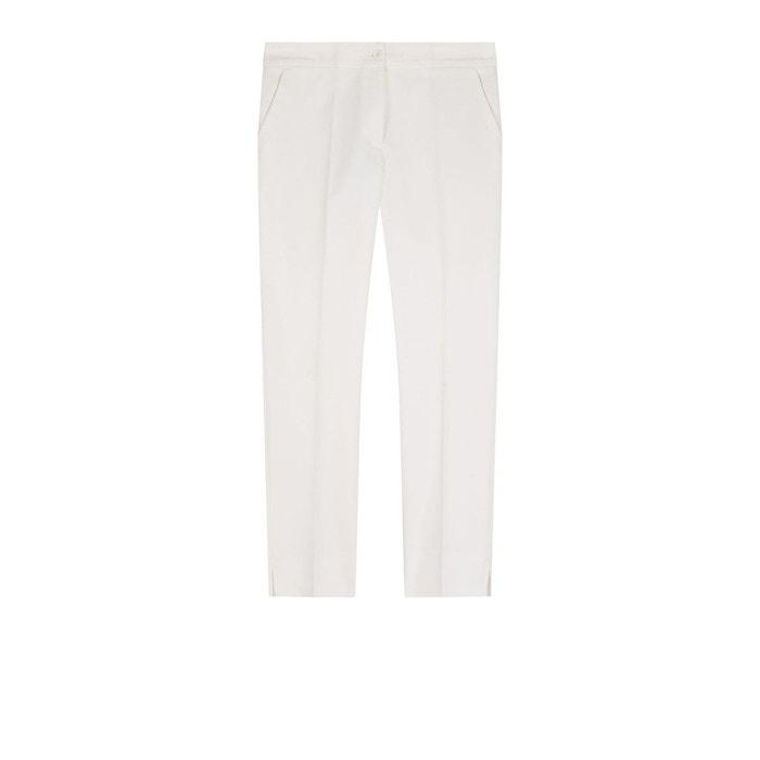 Pantalon blanc blanc devernois la redoute - La redoute soldes blanc ...