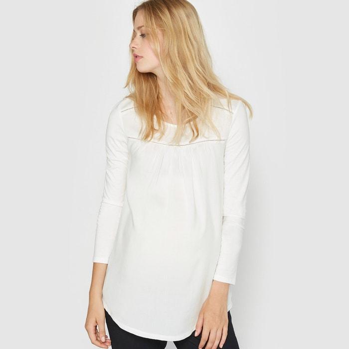 Imagen de Camiseta premamá de dos tejidos R essentiel