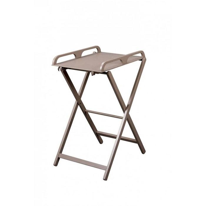 Table A Langer Pliante Jade Laque Taupe Combelle La Redoute