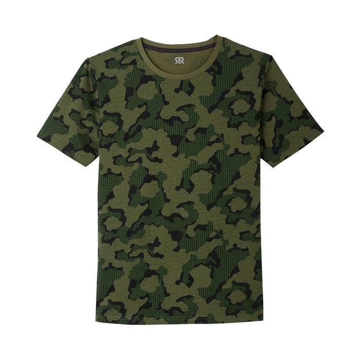 redondo La Redoute camuflaje con cuello Collections Camiseta estampado qBX7q