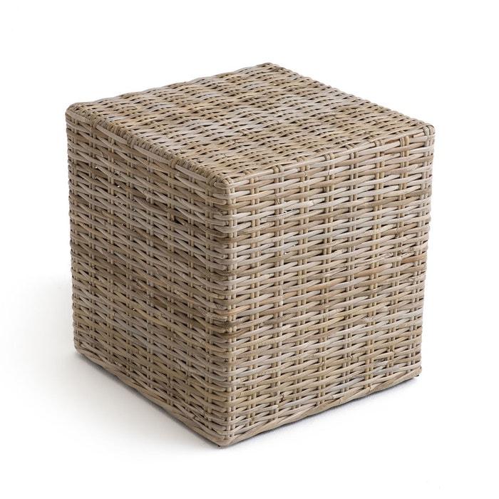 Pouf cubique kubu ou rotin repose-pieds, INQALUIT La Redoute Interieurs