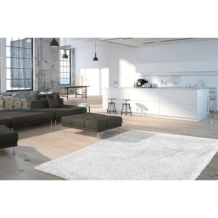 tapis en polyester doux shaggy blanc wow blanc deladeco la redoute. Black Bedroom Furniture Sets. Home Design Ideas