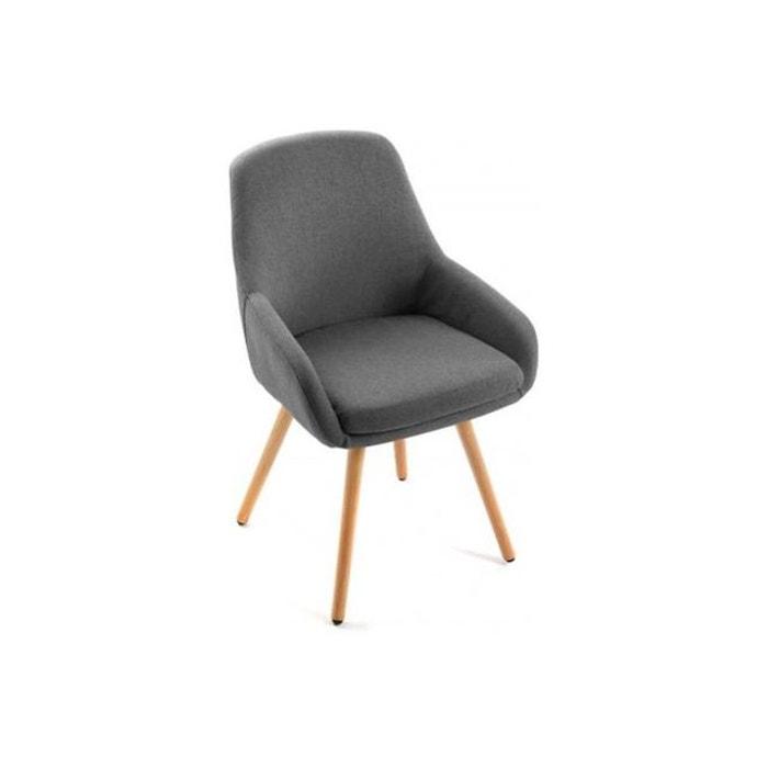 chaise style scandinave en tissu anthracite begonia gris declikdeco la redoute. Black Bedroom Furniture Sets. Home Design Ideas