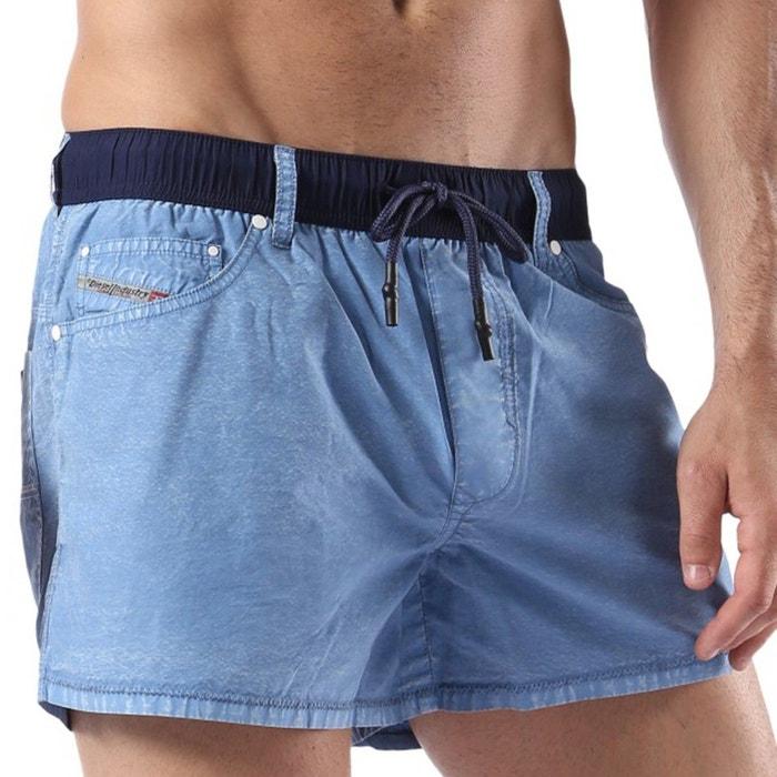 maillot de bain homme short court waykeeki bleu diesel la redoute. Black Bedroom Furniture Sets. Home Design Ideas