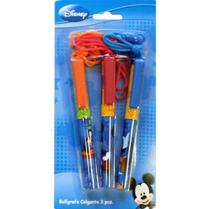 mickey lot de 3 stylos tour de cou couleur unique disney la redoute. Black Bedroom Furniture Sets. Home Design Ideas