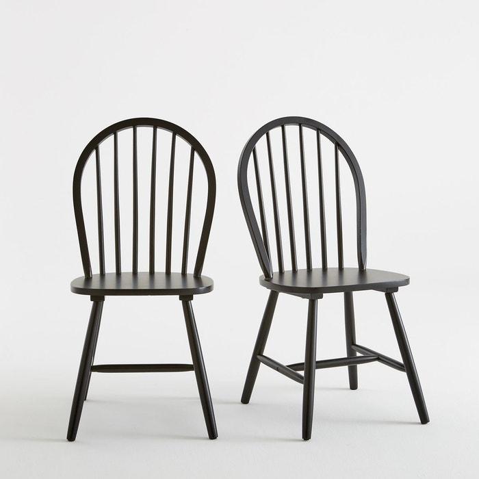 chaise barreaux windsor lot de 2 la redoute interieurs la redoute. Black Bedroom Furniture Sets. Home Design Ideas