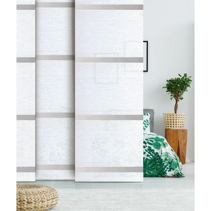 panneau japonais voile barre alu madeco la redoute. Black Bedroom Furniture Sets. Home Design Ideas