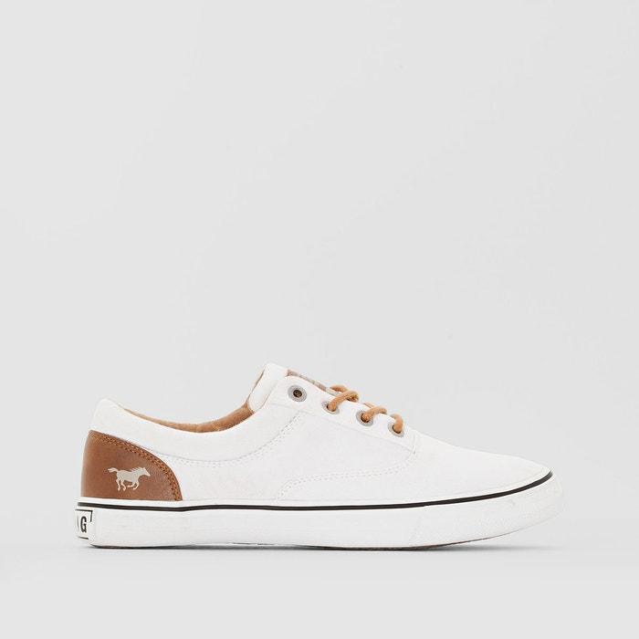 Tennis en toile   blanc Mustang Shoes   La Redoute
