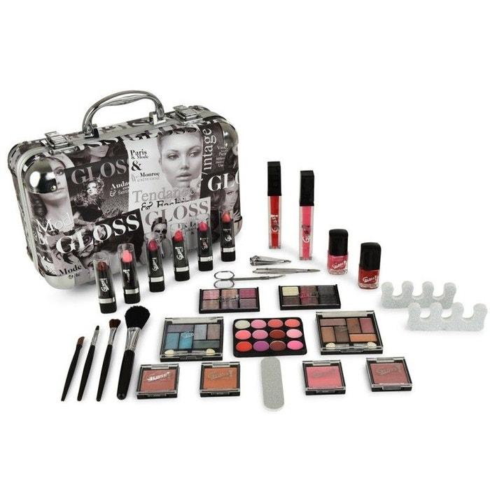coffret cadeau mallette de maquillage valise collection beauty tendance 62pcs gloss la redoute. Black Bedroom Furniture Sets. Home Design Ideas