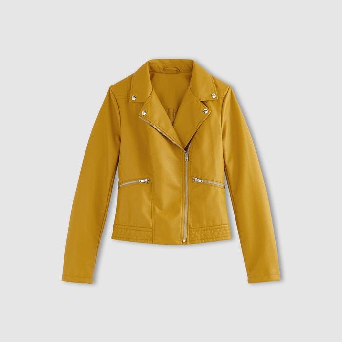 Blouson en simili cuir jaune safran la redoute collections la redoute - Guide des tailles la redoute ...