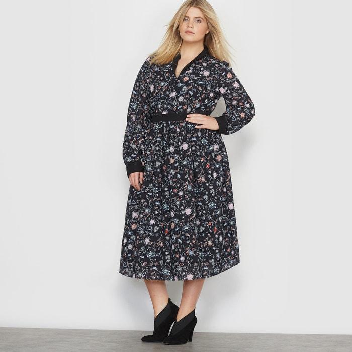 Image Floral Print V-Neck Maxi Dress CASTALUNA